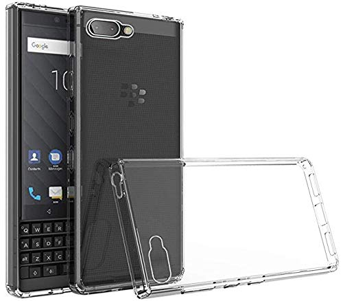 Tektide Case for BlackBerry KEY2 LE, [Invisible Armor] Xtreme Slim, Clear, Soft, Drop Protection TPU Rubber Bumper Case/Back Cover