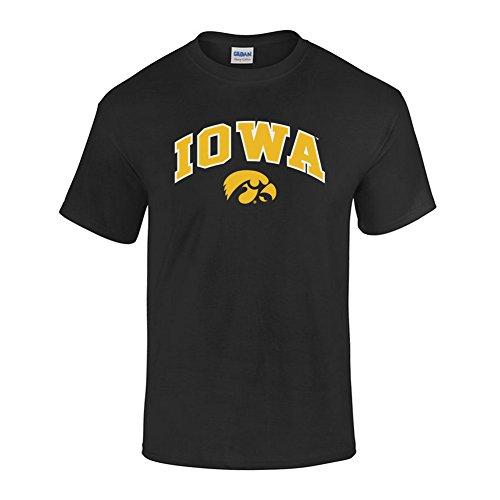 (Elite Fan Shop NCAA Men's Iowa Hawkeyes T Shirt Team Color Arch Iowa Hawkeyes Black X Large)
