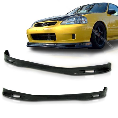 (NEW - 1999-2000 HONDA CIVIC Coupe Hatchback SP Style Front PU Bumper Lip)