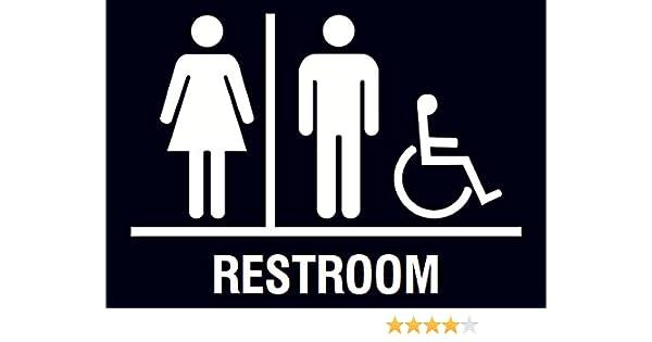 Fine Family Restroom Handicap Accessible Horizontal Bathroom Black Sign Download Free Architecture Designs Xaembritishbridgeorg