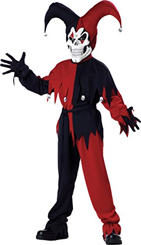Evil Jester Child Costume - Large -