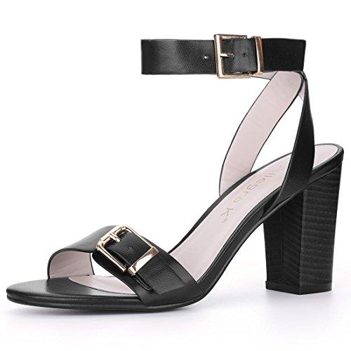Ankle Buckle Sandal Heels - 8