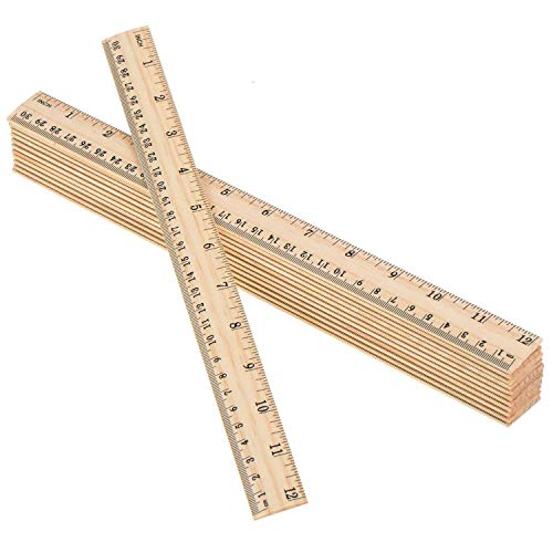 Betan 30 Pack Wooden Rulers Student Rulers Wood School Rulers Measuring Ruler Office Rulers,2 Scale,30 cm and 12 inch by Betan (Image #9)