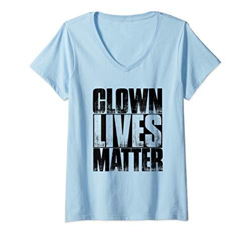 Halloween Clown Meme (Womens Clown Lives Matter Funny Halloween Meme Quote V-Neck)