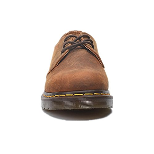 NVXIE Womens Men Flat Retro Couple Single Shoes Martin Boots New Leisure Comfortable Genuine Leather Scrub Thick Bottom Non-slip Brown Fall Spring BROWN-EUR37UK455 eZVe2q