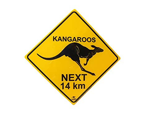 (Australian Roadsign Kangaroos Crossing)