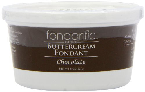 Fondarific Buttercream Fondant, Chocolate, 8 Ounce