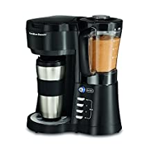 Hamilton-Beach 40918 Java Blend Personal Coffee Brewer/Blender, Black