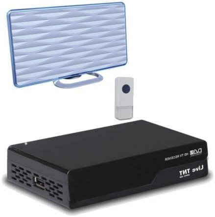 Instalación TNT: 1 decodificador TDT DVB-T2 + Mini antena ...