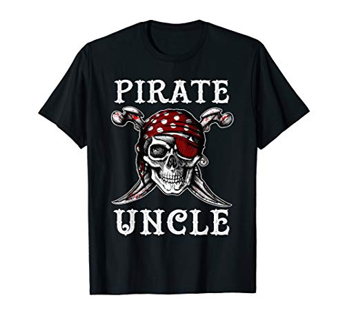 Pirate Uncle Halloween T-Shirt Skull Costume Shirt ()