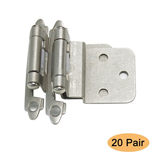 - Gobrico Satin Nickel Cabinet Hinges 3/8