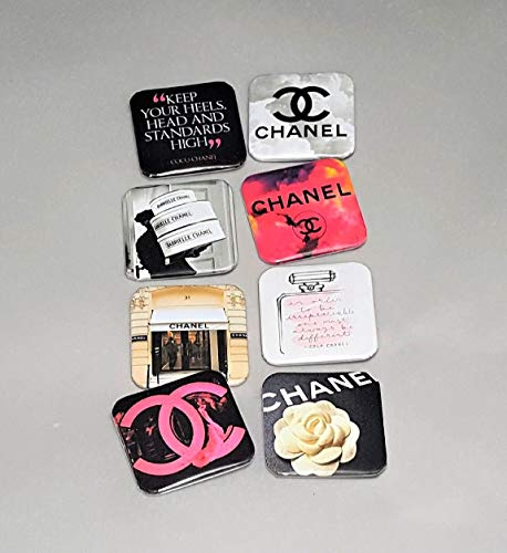 Brooch Chanel White (Chanel Pins - Pinback Buttons Quotes - Chanel Perfume - Coco Chanel Art - Button Pins For Backpacks - LGBT Jewelry - Chanel Gifts For Women)