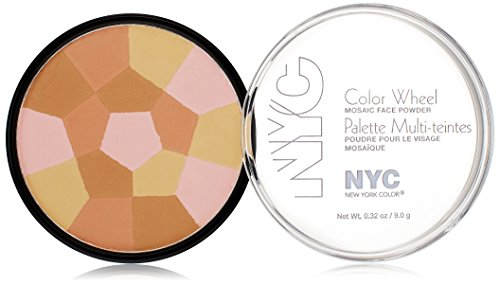 N.Y.C. New York Color Wheel Mosaic Face Powder, Bronzed Pink, 0.32 Ounce - Face Wheel