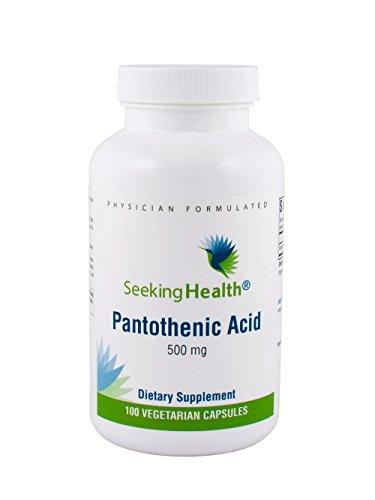 Pantothenic Acid | Provides 500 mg of Pure Pantothenic Acid Vitamin B5 | 100 Easy-To-Swallow Vegetarian Capsules | Free of Common Allergens | Seeking Health