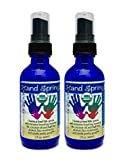 "Organic Hand Sanitizer Spray – Half the alcohol – Essential oil based cleanser – ""HandSpring"" 2 Pack of 2 oz glass bottles, for when you have no soap or water For Sale"