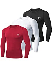 MEETYOO Heren Compressie Shirt, Base Layer Top Lange Mouw T-Shirt Sport Gear Fitness Panty voor Running Gym Workout