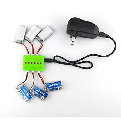 Dreamyth JJRC 4 In 1 3.7V 400mAh 30C LiPo Battery with Charger For H31 RC Drone Durable