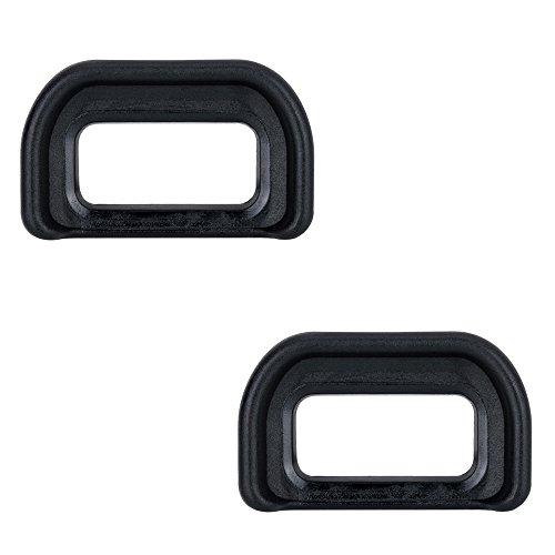 (2-Pack) JJC Eyepiece / Eyecup / Eye Cup Viewfinder for Sony Alpha A6500 Camera, Replaces Sony FDA-EP17 Eyepiece