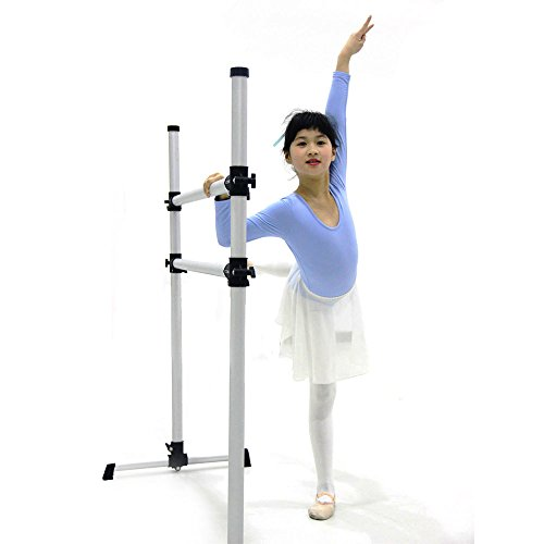 WYZworks Ultra Stretch Portable Double Freestanding Ballet Barre For Flexibility Stretching 4 Feet by WYZworks