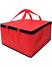 Cabilock Insulated Food Grocery Delivery Bag Pizza Warmer Bag Picnic Cooler Bag Transport Bag for Hot Food Delivery Drink Carriers