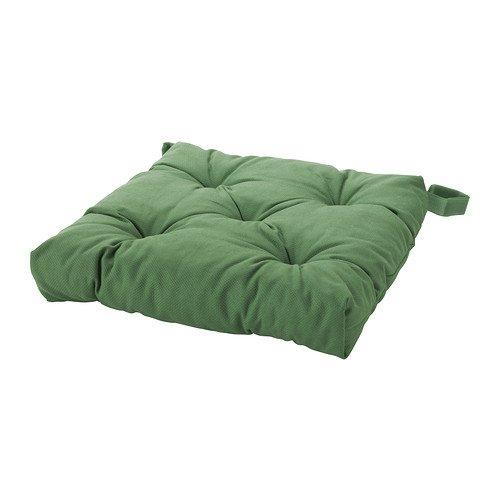 IKEA MALINDA - cojín de la silla, verde - 40 / 35x38x7 cm ...