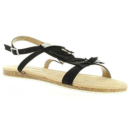 Maria Mare Sandalen Für Damen 66035 SUEDI Negro Schuhgröße 37