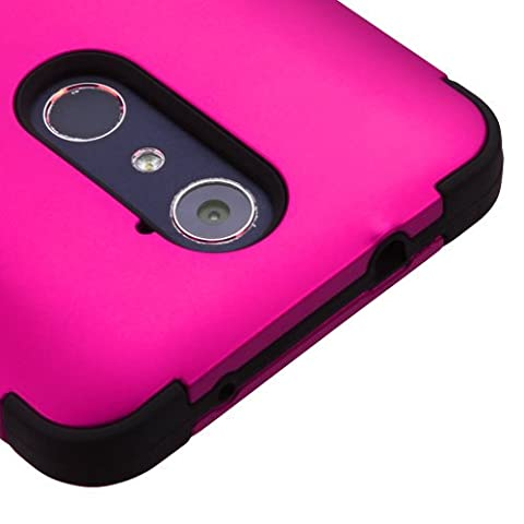 ZTE ZMax Pro Z981 / Carry / Blade X Max Case, Kaleidio [TUFF] Rugged Shockproof Hybrid Dual Layer Protective Heavy Duty Armor Cover [Includes a Overbrawn Prying Tool] (Zte Zmax Phone Case Pink Hybrid)