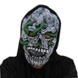 Culturemart New Halloween Mask Head Latex Rubber Mask Costume Theater Prop Terror Mask Halloween Decorations Party Decoration Supplies Hot