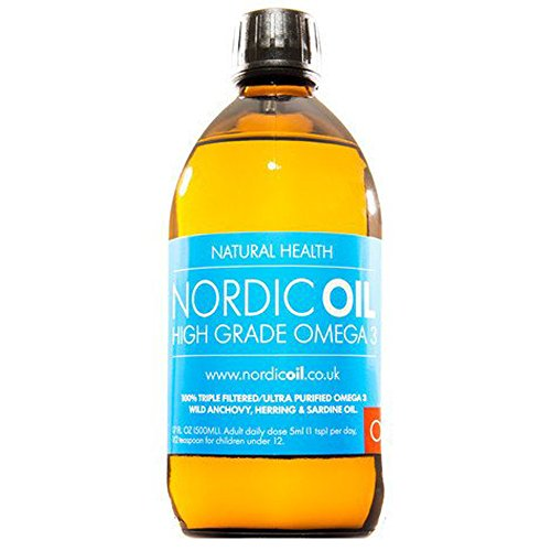 Nordic Oil hohe Festigkeit 500ml Omega 3 Fischöl