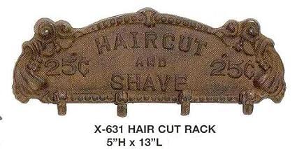 Upper Deck Estilo Antiguo Perchero de peluquería Corte de Pelo de Hierro y Afeitado