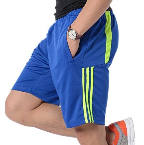 df22e2ee66d8 Casual Pantaloni Tronchi Tasche Con Da Cerniera Bluegreen Fitness Festivo  Sportivi Abbigliamento Uomo Gym Estivi Calcio ...