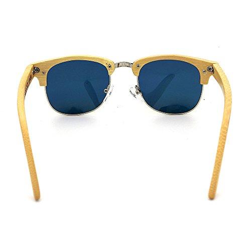 de bambú Montura Color Gafas Coloreada sin UV400 múltiples De para Hecho Adulto Libre Mano Uso Semi y Sol al para a Lente de Fines Diario Gububi Aire Verde Simple Unisex Adecuado protección Naranja OwYqA0A
