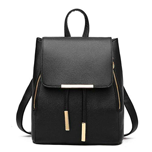 School Shoulder Black Pu Women Blue travel Bag Leather EAqIqS
