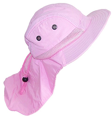 tropic-hats-kid-child-wide-brim-mesh-summer-hat-with-neck-flap-one-size-light-pink