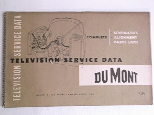 DuMont Television Service Data Complete Schematics, Alignment, Parts List