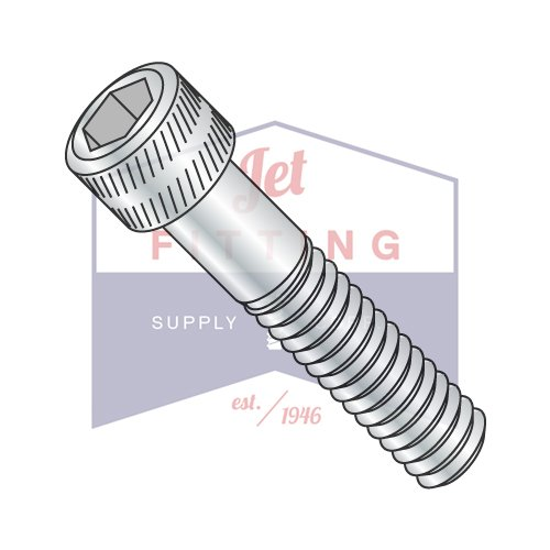 Hex Screw - Allen Screw - Socket Head Cap Screw - Alloy Steel - #10-24 x 1/4'' - Zinc (Quantity: 100), Drive: Hex Socket, Head: Cylindrical