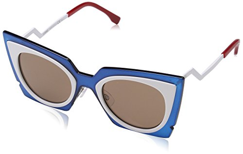 (Fendi FF0117S IC4UT Womens Turquoise/White 49 mm Sunglasses)