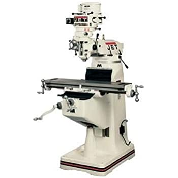 Jet 690006 JTM-2 115/230-Volt 1 Phase Vertical Milling Machine with X-Axis Powerfeed