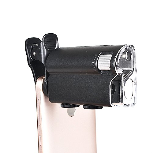 100X Zoom LED Magnifier Clip Microscope Biology Jewelry Appr