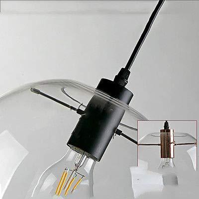 FidgetGear E27 Vintage LED Pendant Light Ceiling Lamp Transparent Glass Chandelier by FidgetGear (Image #3)