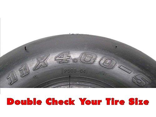 MowerPartsGroup (2) Toro Exmark Pneumatic Wheel Assem 11x4.00-5 Fits Quest SS4225 Repl 130-0736
