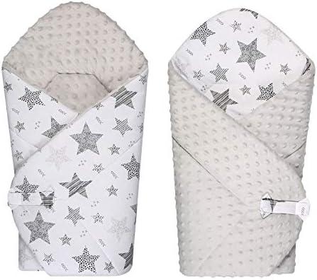 Baby Shower BlueberryShop Couverture d/'emmaillotage velours Sac de couchage pour nouveau-n/é Pour 0-3 mois Abricot 78 x 78 cm accompagn/ée de coussin
