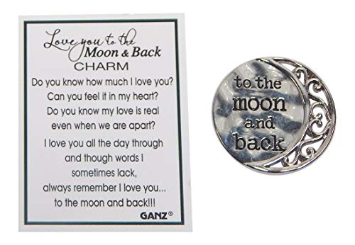 (Love You to The Moon & Back Pocket Charm by)