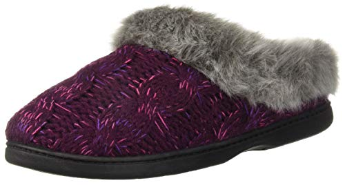 Cable Dye Knit Women's Slipper Dearfoams Space Clog Width Wide Aubergine qXCfWIwxg