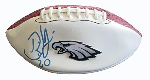 Brian Dawkins Autographed Philadelphia Eagles Logo Football W/PROOF, Picture of Brian Signing For Us, Philadelphia Eagles, Denver Broncos, Pro ()