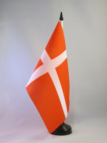 AZ FLAG Bandiera da Tavolo Danimarca 21x14cm - Piccola BANDIERINA Danese 14 x 21 cm