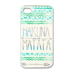 ABC Hakuna Matata Aztec Tribal Pattern Snap on Case for Iphone 4 4g 4s