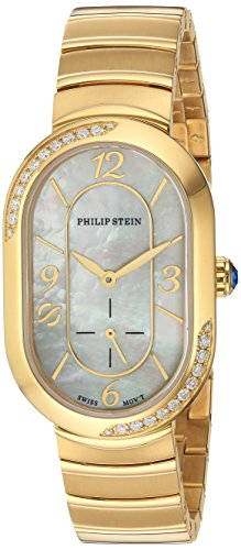 Philip-Stein-Womens-Modern-Swiss-Quartz-Stainless-Steel-Dress-Watch-ColorGold-Toned-Model-74SDGP-FGMOP-MSSGP