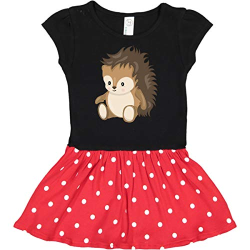 inktastic - Cute Woodland Toddler Dress 4T Black & Red with Polka Dots 2777c