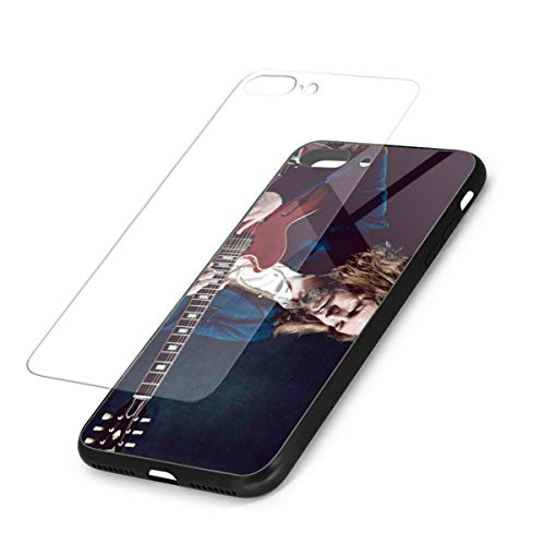 The Black Crowes Rich Robinson iPhone 7 Plus Case,iPhone 8 Plus Cases Tempered Glass Back Shell Pattern Designed with Soft TPU Bumper Case ()
